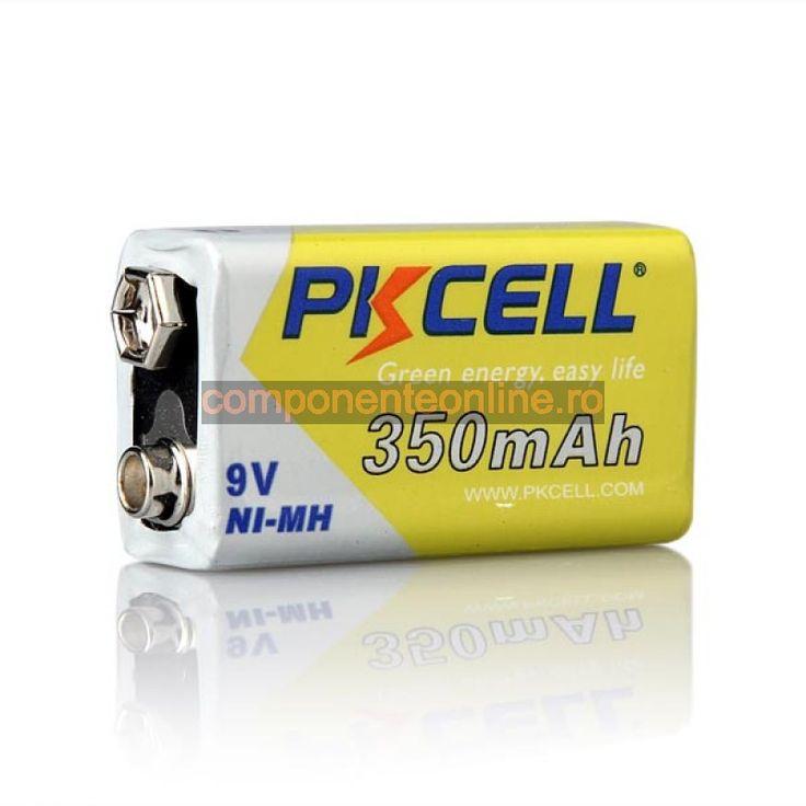 Acumulator 9V, 6F22, 350mA, PKCELL - 201323
