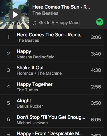 We've got the ultimate playlist to put you in a good mood