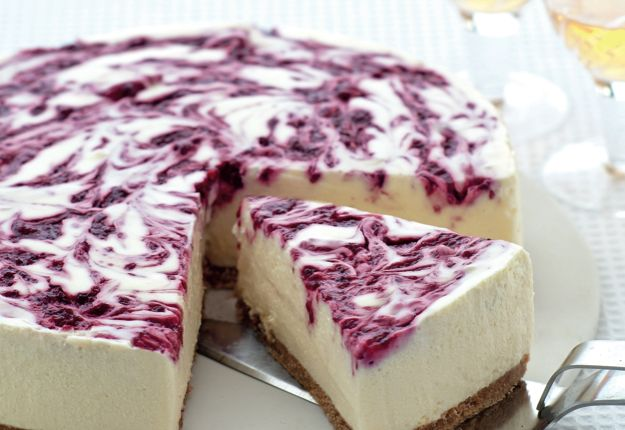 Creamy White Choc Berry Cheesecake - Real Recipes from Mums