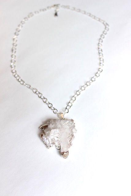 Crystal Pendant Silver 2