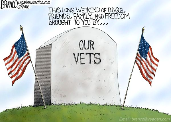 THANK YOU VETERANS:This Memorial Day Cartoon is a tribute to our vets, if not for them this weekend of friends, family, and freedom would't be possible. by A.F. Branco ©2016