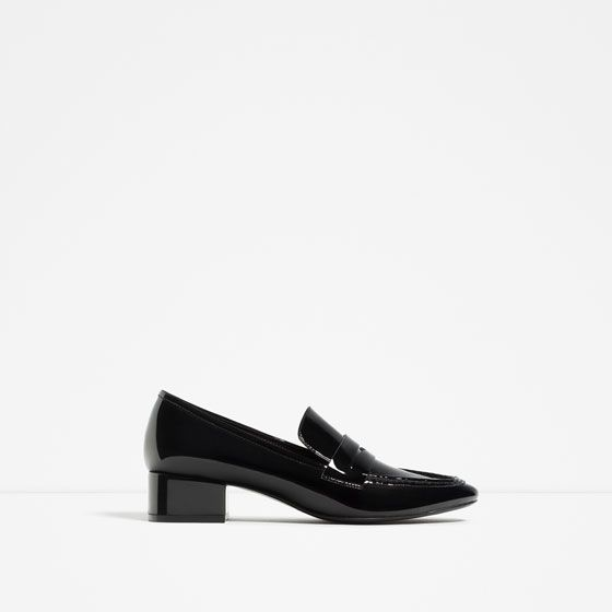 Image 1 of LOAFERS WITH HEEL from Zara