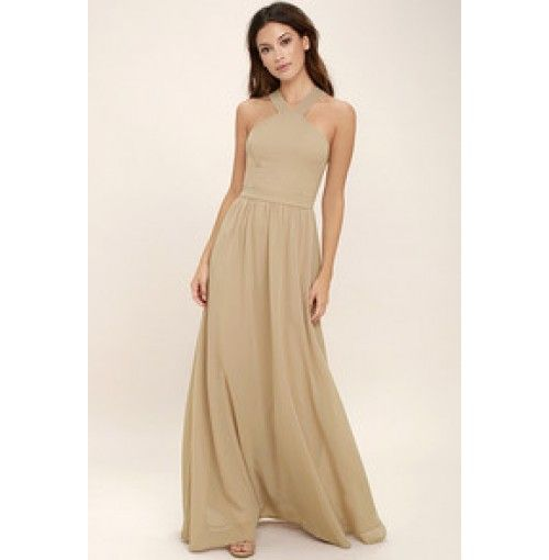 Air of Romance Nude Maxi Dress | Women's Spring Outfits | street style. ♥ Fashion inspiration Women apparel | Women's Clothes | Fashion | Style | Dresses | Outfits | #clothes #shoes #fashion #dresses #women #jeans #shop CollectiveStyles.com