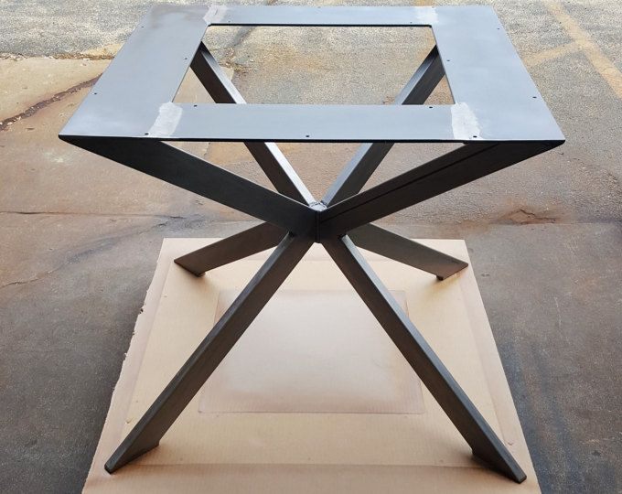 "Modern Table ""X"" Base for Square or round table, Model # MTX11H"