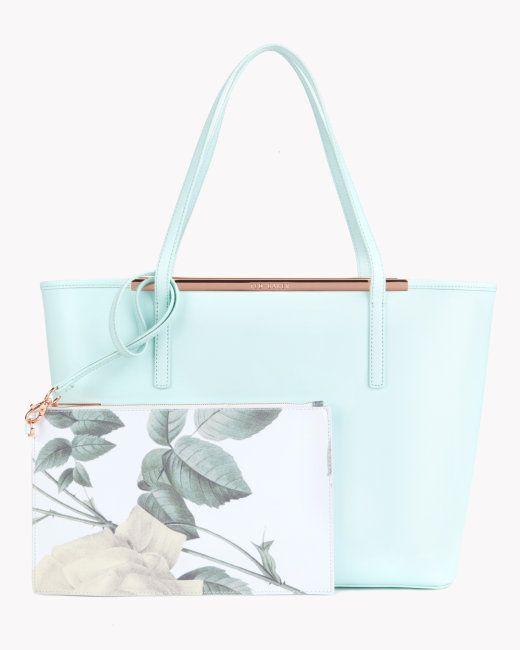 Crosshatch leather shopper - Mint   Bags   Ted Baker UK