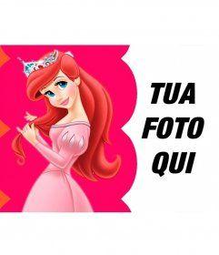 Collage vestito Principessa Ariel pettina i suoi capelli con la ...
