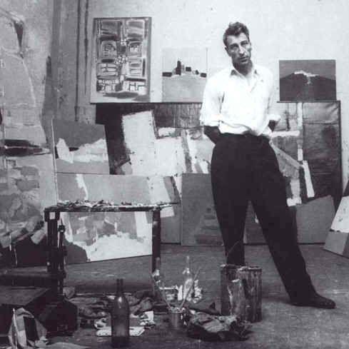 Nicolas de Stael in his studio Antibes, France.