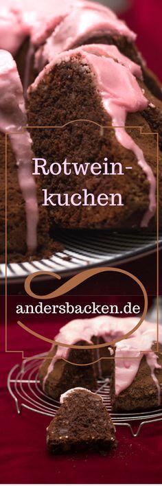 Glutenfreier Rotweinkuchen mit Erdmandelmehl. Super lecker und saftig. Die herbe Schokolade passt perfekt zu dem Rotwein und lässt den Kuchen nicht zu süß werden.  Probiere ihn aus! Ein toller Rührteig, der auch morgen noch schmeckt! #Rotweinkuchen #glutenfrei #gugelhupf