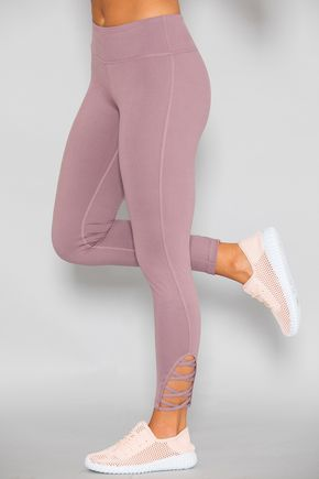 229babf13d2f6 Breathe In The Love Athletic Leggings Dusty Purple | Clothing in ...