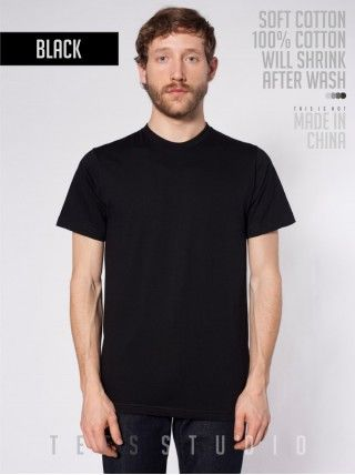 BLACK Blank Basic O neck - Tees Studio