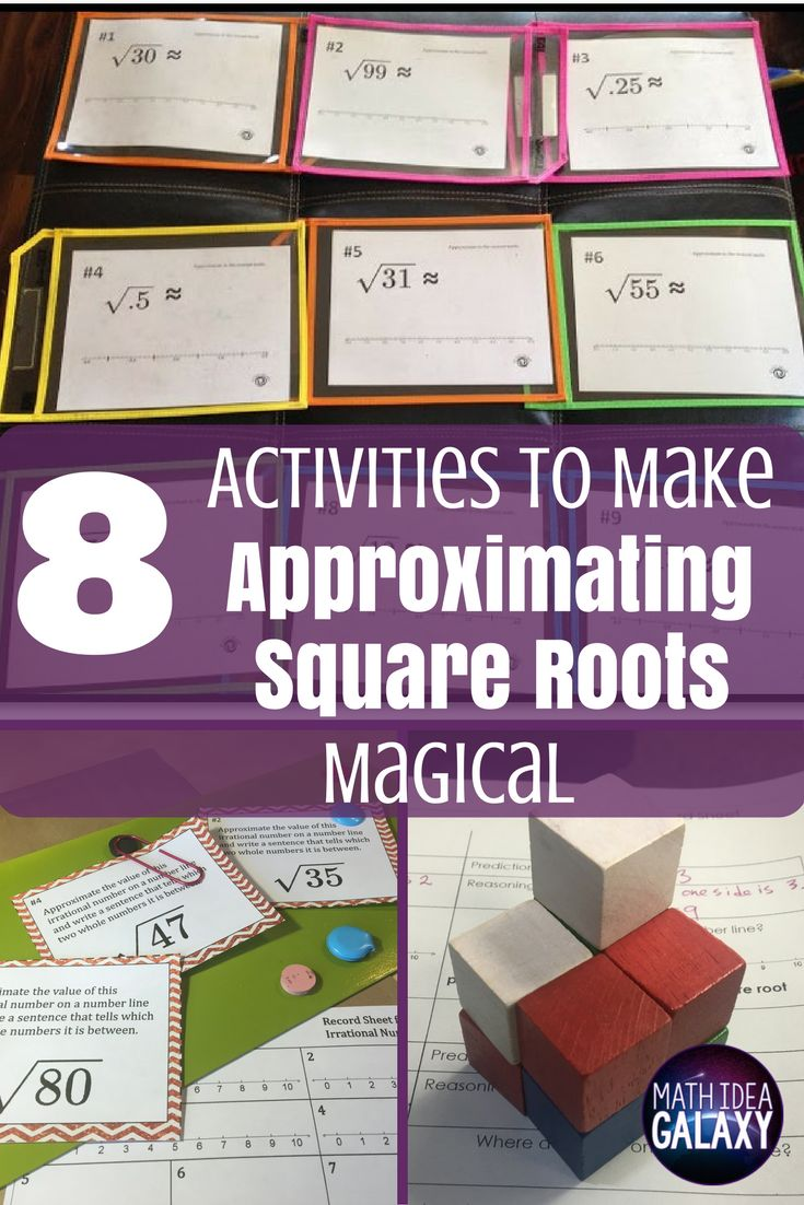 1421 best 8th grade math common core images on pinterest albert 8 activities to make approximating square roots magical robcynllc Gallery