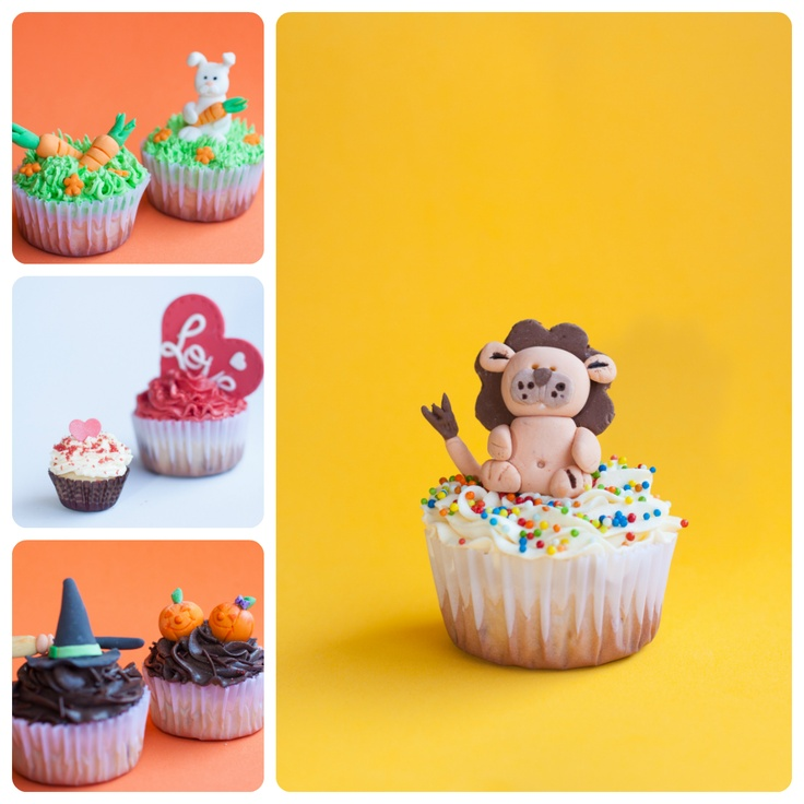 CUPCAKE TIME!! a dear friend of mine does this with her mom and it's sooo totally cute and yumi... :D so i did this mini session for her cupcakes and :D i loved it :D she gave me the lion one for my son XD it was soooo gooood