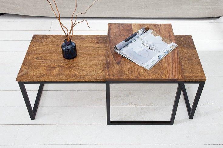 2er Set Design Couchtisch Elements 100cm Sheesham Stone Finish Metallgestell Riess Ambiente De In 2020 Sofa Set Designs Kids Room Wallpaper Furniture