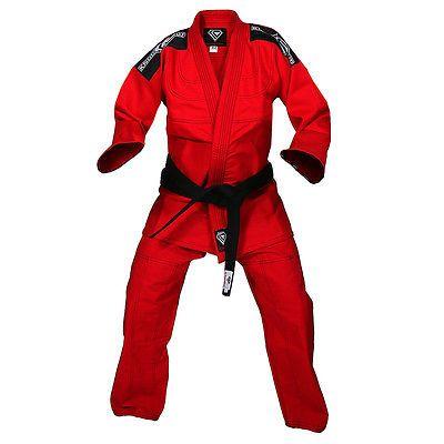 KO Sports Gear's Red Pearl Weave Gi - BJJ Kimono and Pants - For Jiu Jitsu