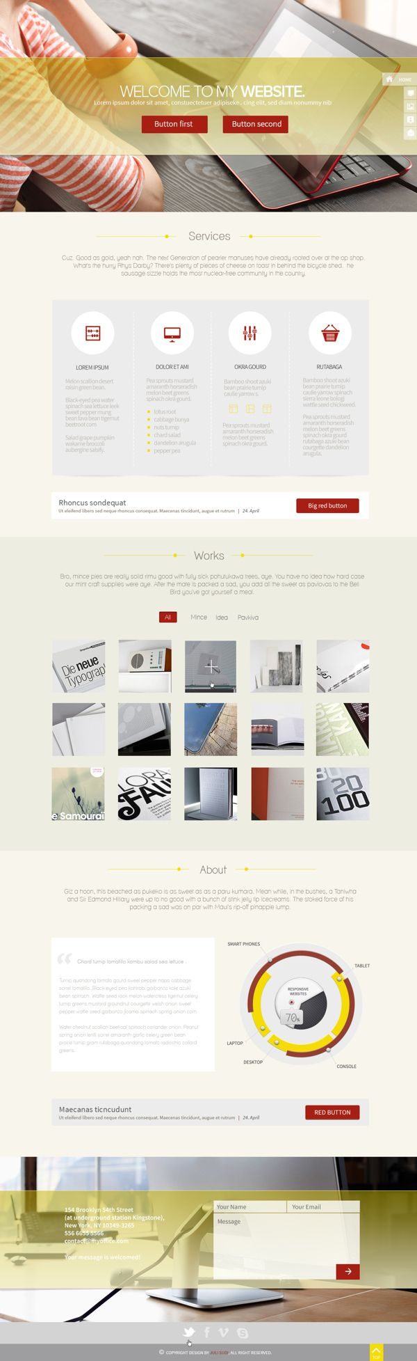 myOffice one page website design
