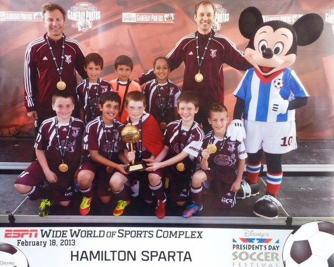 #HamOnt Sparta 2003 boys soccer won the Disney President's Day Soccer Tournament.