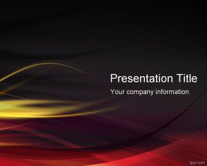 Red Hot PowerPoint template with dark background is a free abstract template for hot presentations with fire flames and dark background color.  #powerpoint #templates