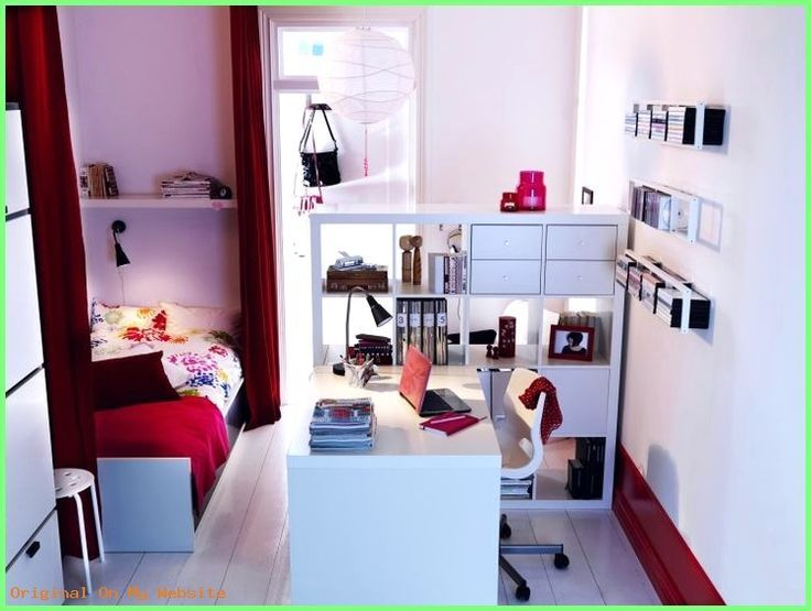 Schlafzimmer Einrichten Kleines Zimmer Einrichten Kinderzimmer Weiss Rot Schreibtisch Trenn Dizajn Spalen Interer Damskaya Spalnya