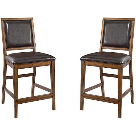 Imagio Home by Intercon San Thomas 24 inch Upholstered Barstool, Set of 2, Warm Brandy, Red