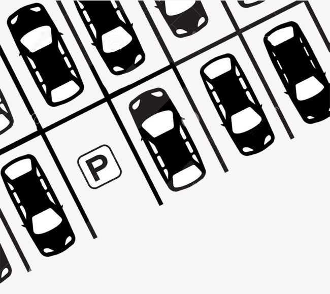 Flat Black And White Illustration Parking Lot Flat Vehicle Parking Lot Png And Vector With Transparent Background For Free Download Black And White Illustration Black And White Black Flats