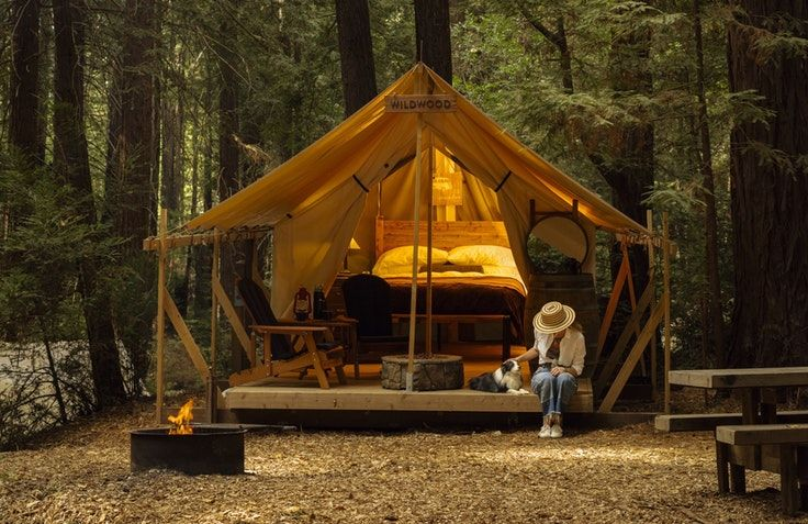 You'll love these cozy glamping tents on the central California coast