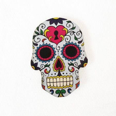 #AD450 - Aplique decorado de caveira mexicana nº3