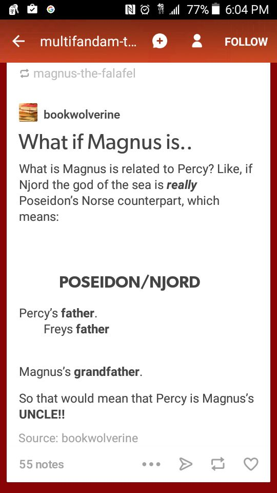 What if Magnus Chase is related to Annabeth AND Percy..