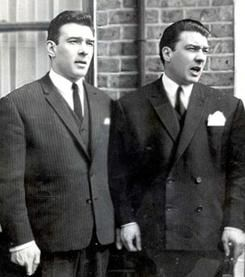 Notorious British Gangsters Ronnie and Reggie Kray were among the last criminals to be imprisoned for a short time in the Tower of London for assaulting a police officer who tried to arrest them for desertion from the Royal Fusiliers while serving their National Service