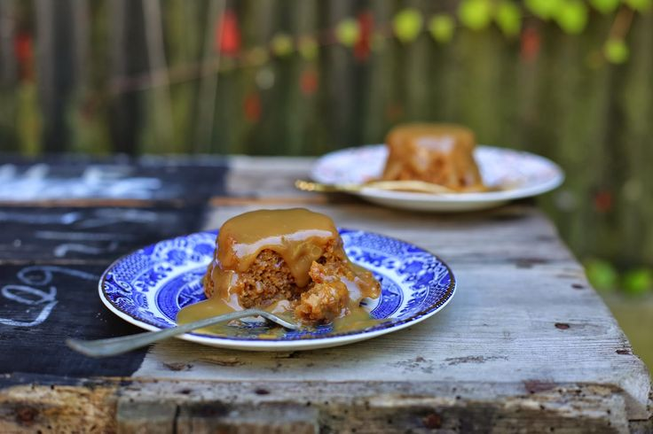 APRICOT & ALMOND BUTTER PUDDINGS WITH COCONUT CARAMEL SAUCE - petite kitchen