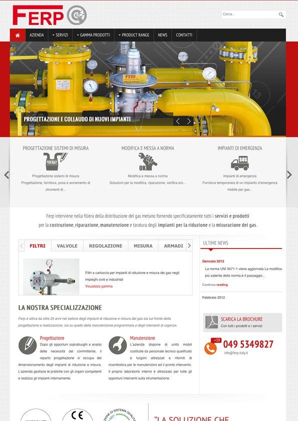Ferp - Sito Internet BtoB #webdesign  #industrial http://www.ferp-italy.it