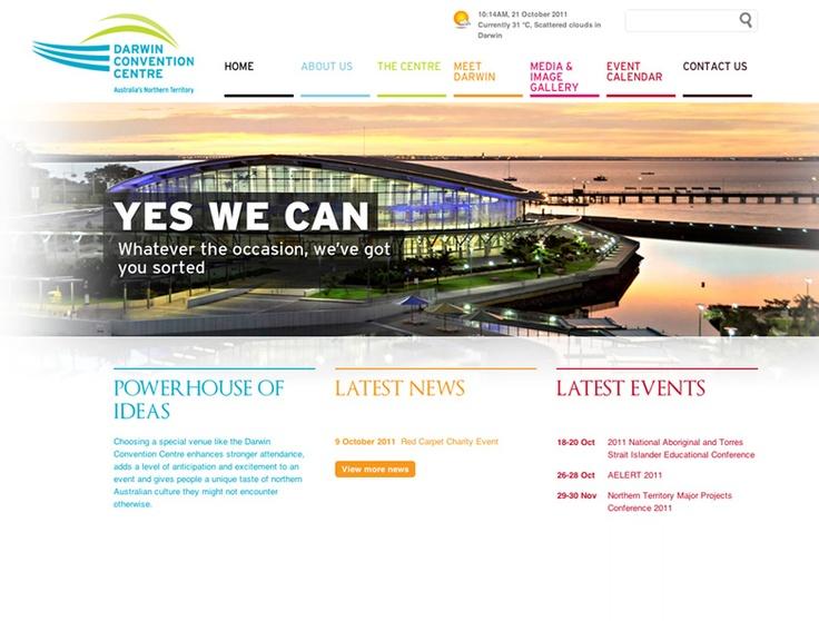 White Website Design. Darwin Convention Centre Website Design by Captovate, Darwin