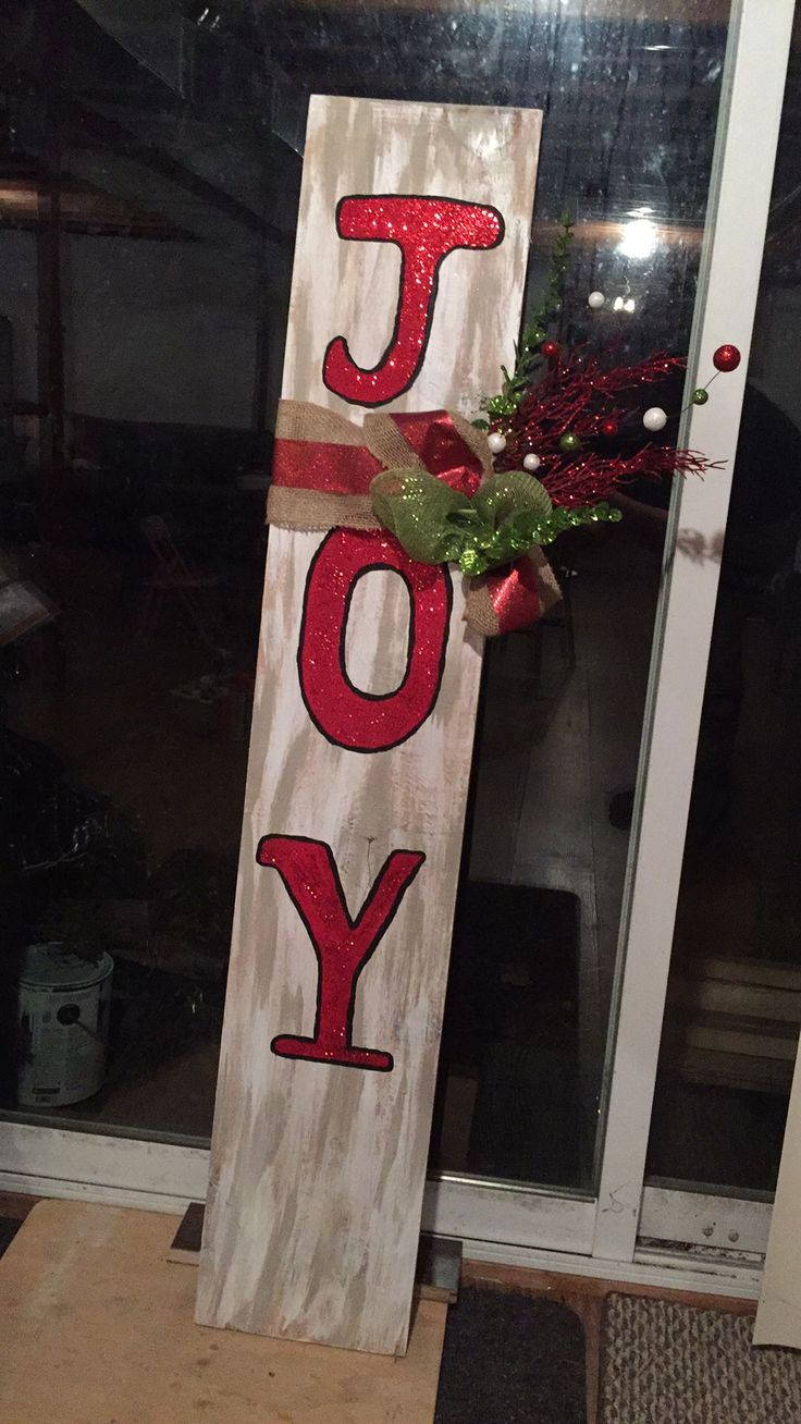 My Pinterest inspired 'joy' sign.
