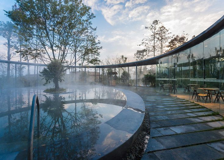 Chinese Spa Resort - Surrounded by a glass walkway, this Chinese spa resort located in the countryside is a phenomenal option for anyone looking for the ultimate in lux...