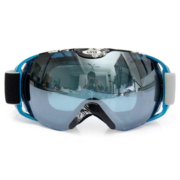 Anti Fog UV Dual Lente Outdooors Snow Snowboard Ski Goggle motor Casco para montar en bicicleta Gafas