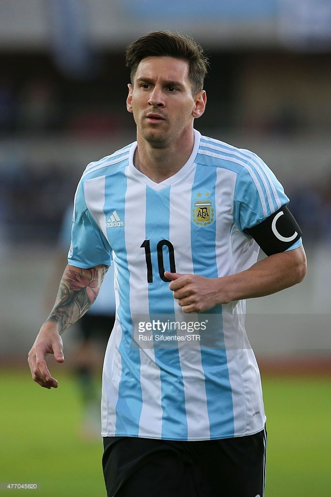 Lionel Messi of Argentina looks on during the 2015 Copa America Chile Group B match between Argentina and Paraguay at La Portada Stadium on June 13, 2015 in La Serena, Chile.