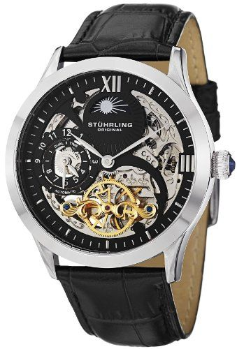 Stuhrling Original Men's 571.33151 Classic Winchester Tempest II Automatic Skeleton Dual Time Zone Black Dial... $186.00 (77% OFF) + Free Shipping - for james