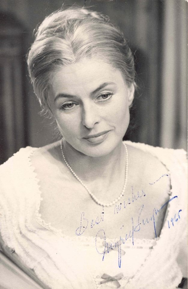 "Ingrid Bergman in Ivan Turgenev ""A Month in the Country"", a play she starred with Sir Michael Redgrave in London in 1965-66 to full-packed audiences and ravishing reviews."