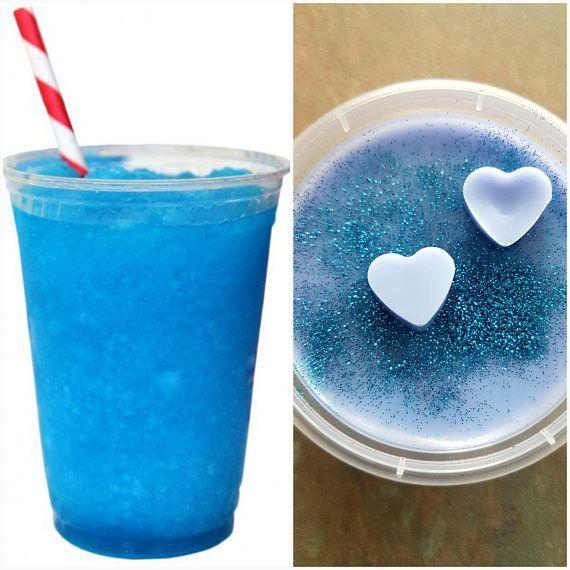 Blue Raspberry Slushie Scented Soy Wax Melts Bio Glitter Soy