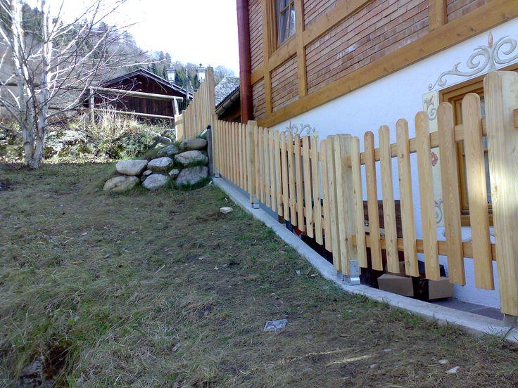 Pali impregnati e recinzioni
