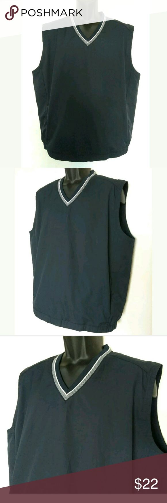 "Nike Golf Navy Blue Mens Vest Size Large V Neck You are buying: Nike Golf vest   Size: Large  Legnth: 28"" (laying flat)  Pit to pit: 26"" (laying flat)  Condition: Good condition   Location: From a smoke free and pet free home!  Nike Jackets & Coats Vests"