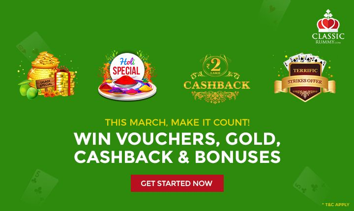 This March, Make It count! Win Vouchers, Gold, Cashback & Extra Bonuses every day & every week.  #card #games #india #earn #money #diy #online #mobile
