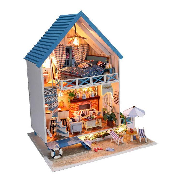 Сделай сам дом для куклы ручной работы деревянные игрушки куклы дом аксессуары мебель миниатюрные игрушки кукольный домик подарки на день рождениякупить в магазине Fat Bear Family наAliExpress