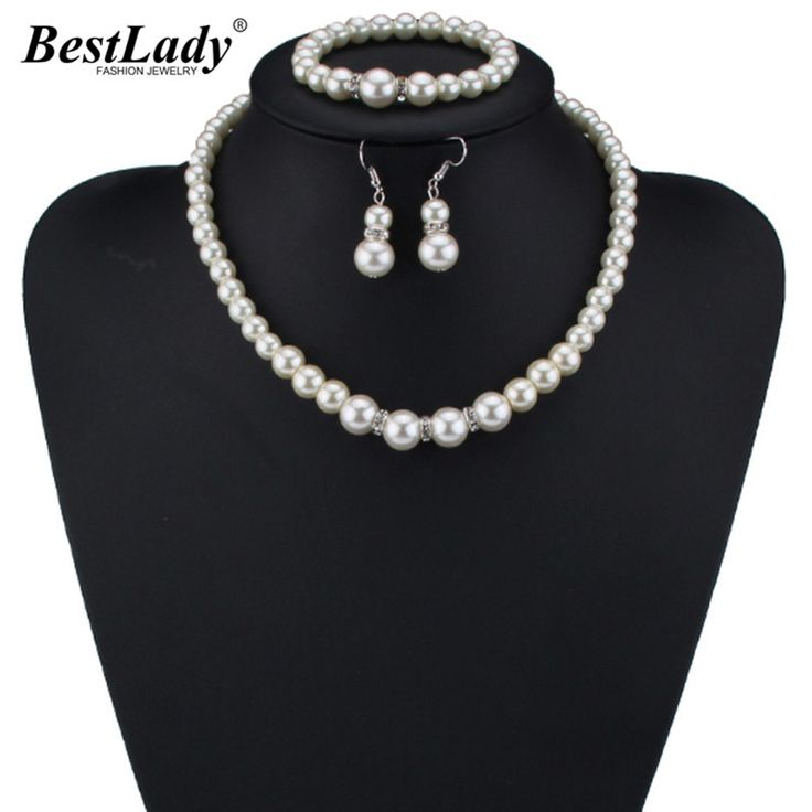 Simulated Pearl 3 Pcs Jewelry Set // Price: $10.95 & FREE Shipping //  We accept PayPal and Credit Cards.    #nails