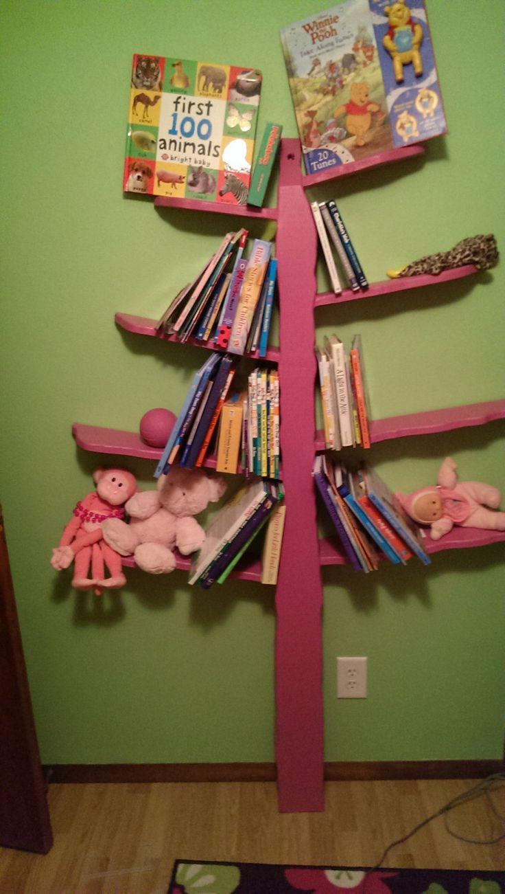 handmade tree bookshelf by SweetAdalene on Etsy, $150.00