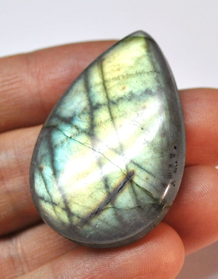 Multicolor Labradorite, Grooved Tear Drop Cabochon, Natural Gemstone Macrame Supply Deep Groove - 44.6 x 29.4 x 7.8 mm - 81.6 ct - 161117-03 by AliveGems on Etsy