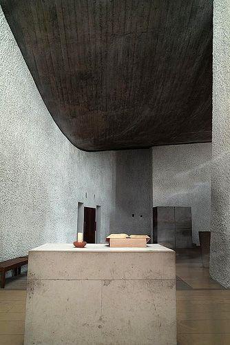 le courbusier's church at Ronchamp, France.