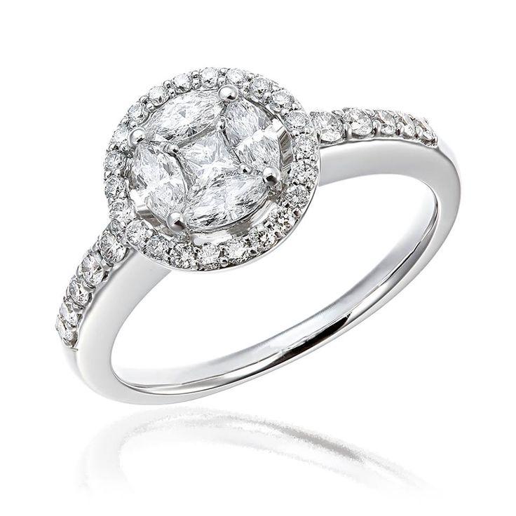 Nu mai puțin de 37 de diamante se găsesc montate în acest inel de logodnă. Este o bijuterie cu adevărat unică. Milioane de scânteieri de lumină pe degetul persoanei iubite.