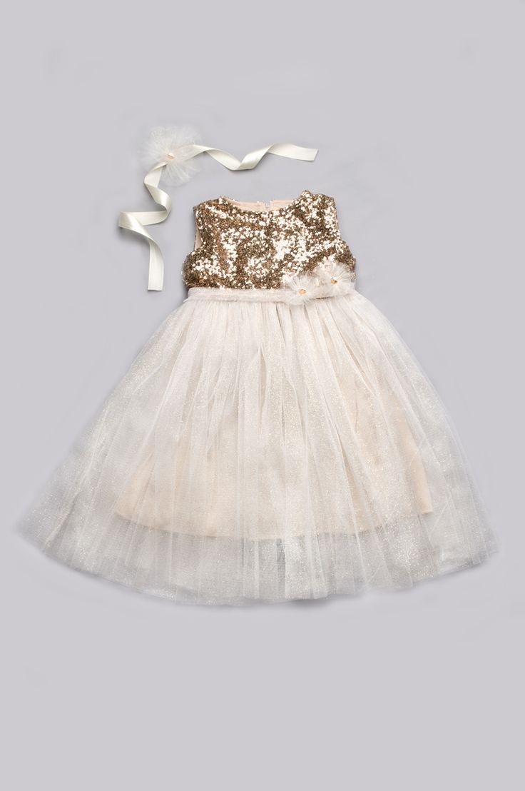 Платье с пайетками для девочки нарядное