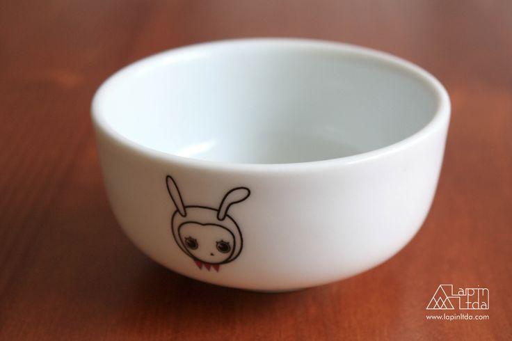 coelho, tigela, porcelana, kawaii, rabbit, bunny, bowl, porcelain