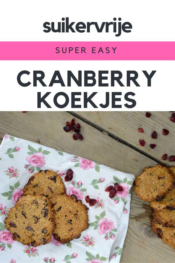 Suikervrije cranberry koekjes en Chai Tea Mix. Dit recept is super makkelijk en volledig fool-proof